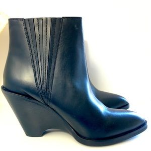 Seychelles Sey Collection Semi Wedge Bootie Black